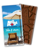 Tony's Chocolonely chocolade custom made in wikkel