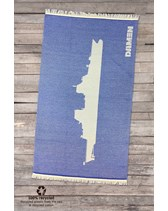 SEAQUAL Sea Towel geweven logo 80x150 cm 280 gr RPET+recycle