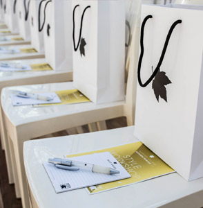 Goodie bags met bedrukte give aways