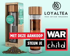 Steun War Child met deze originele LoyalTea thee To Go infuser