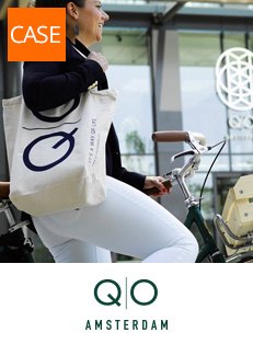 Sustainable custom made tote bags voor QO Amsterdam
