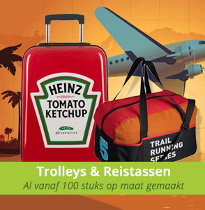 Custom made trolleys en reistassen bedrukken